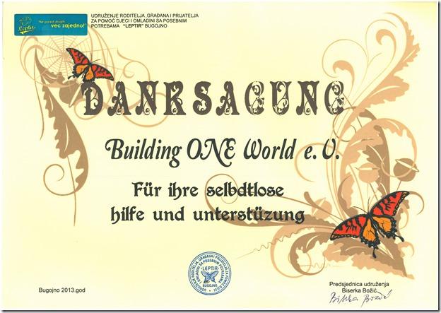 Zertifikat Bugojno